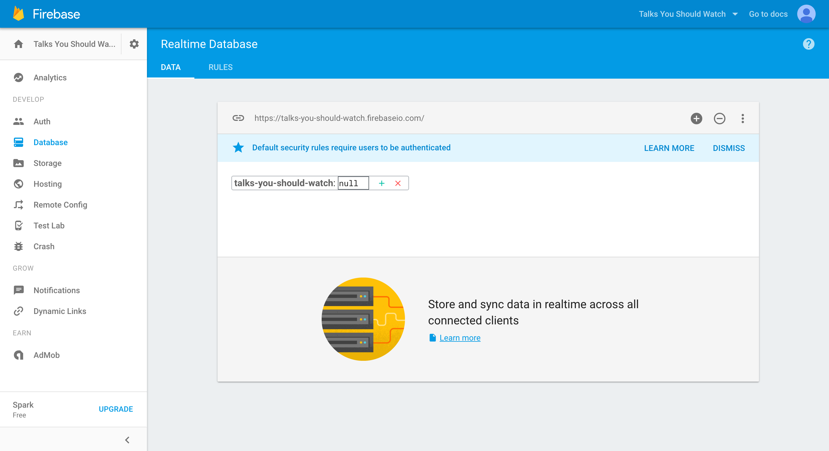 Firebase | Step 1: Setup your first Firebase application