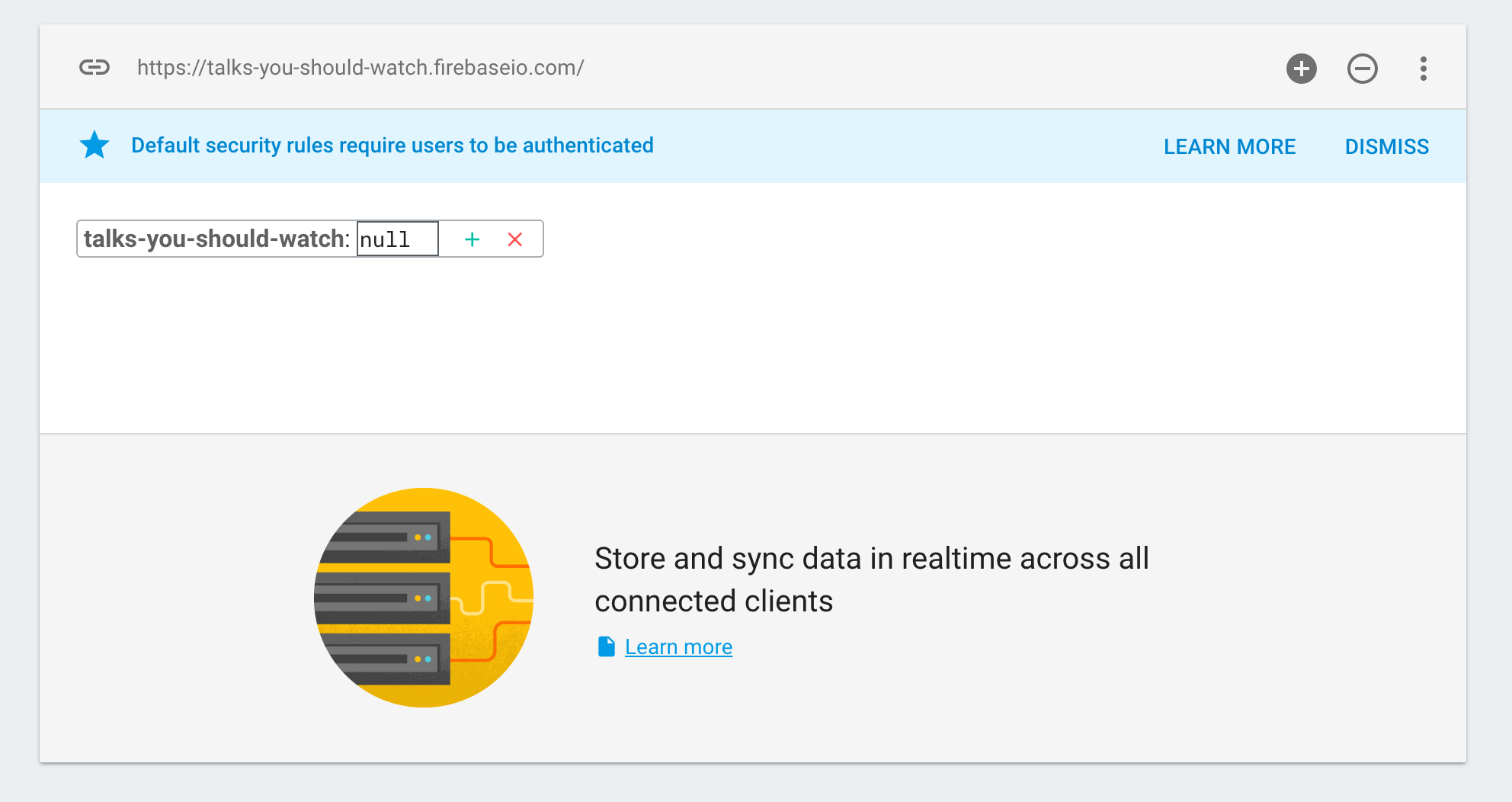 Firebase | Step 2: Write data manually in the Firebase Dashboard