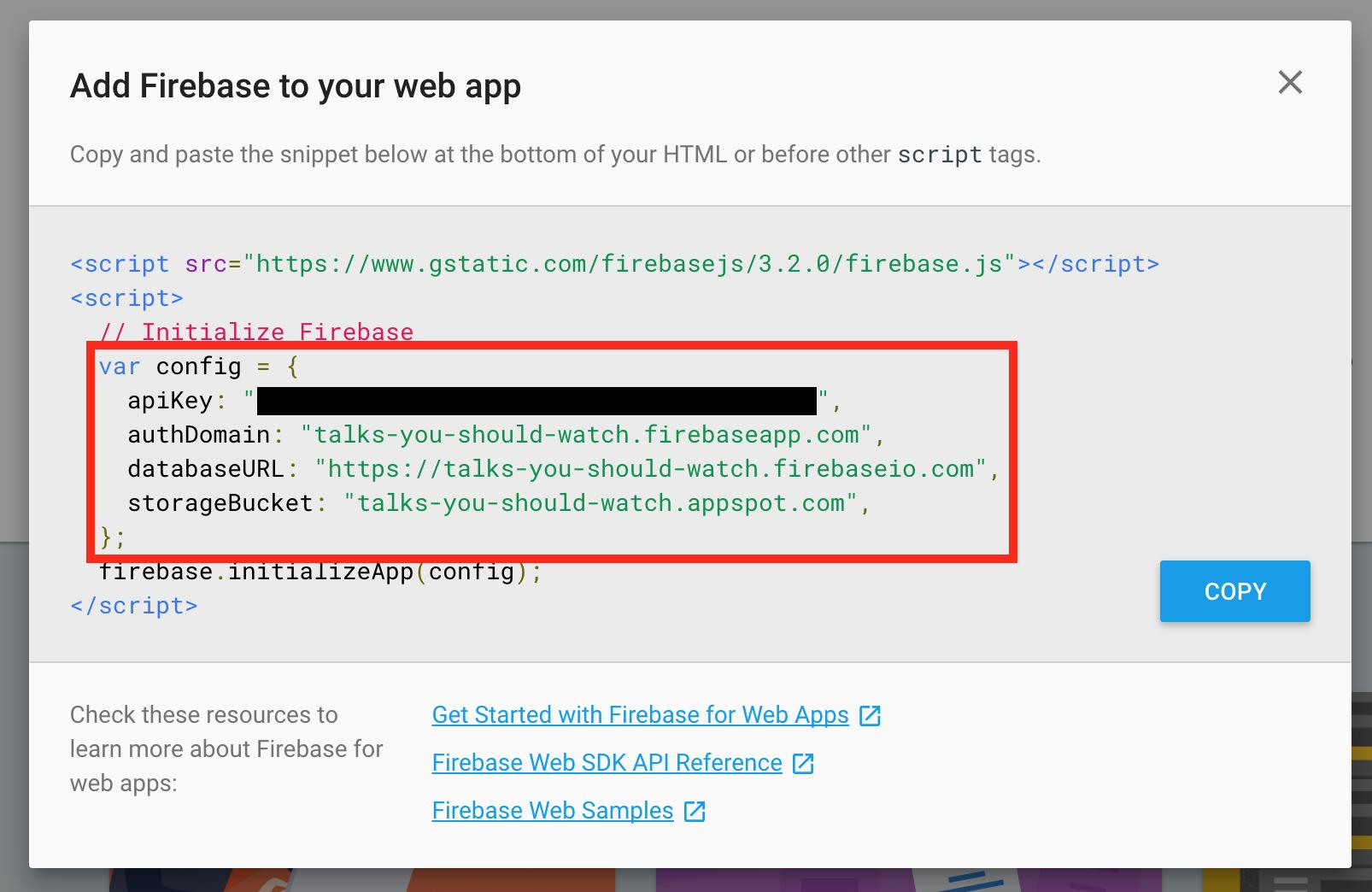 Firebase   Step 3: Write hard-coded data via the JavaScript Library